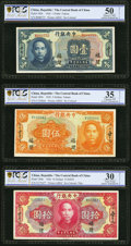 China Central Bank of China - Fukien 1926 Three Examples PCGS Gold Shield Details Grading. ... (Total: 3 notes)