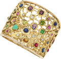 Estate Jewelry:Bracelets, Multi-Stone, Diamond, Gold Bracelet, French. ...