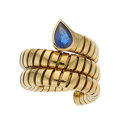 Estate Jewelry:Rings, Sapphire, Gold Ring, Bvlgari. ...