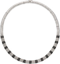Diamond, Colored Diamond, White Gold Necklace