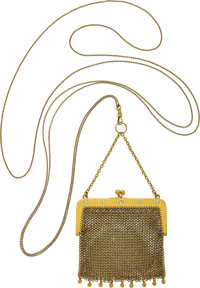 Antique Diamond, Gold Purse