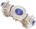 Estate Jewelry:Bracelets, Tanzanite, Diamond, White Gold Bracelet . ...