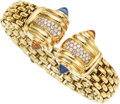 Estate Jewelry:Bracelets, Diamond, Multi-Stone, Gold Bracelet . ...