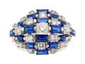 Estate Jewelry:Rings, Diamond, Sapphire, Platinum Ring, Oscar Heyman Bros.. ...
