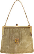 Estate Jewelry:Purses, Antique Diamond, Synthetic Sapphire, Gold Purse. ...