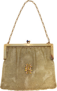 Antique Diamond, Synthetic Sapphire, Gold Purse