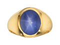 Estate Jewelry:Rings, Gentleman's Ceylon Star Sapphire, Gold Ring. ...