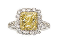 Fancy Yellow Diamond, Colored Diamond, Diamond, Gold Ring