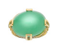Estate Jewelry:Rings, Chrysoprase, Diamond, Tsavorite Garnet, Gold Ring, Michael von Krenner. ...