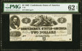 Confederate Notes:1862 Issues, T42 $2 1862 PF-5 Cr. 337 PMG Uncirculated 62 EPQ.. ...