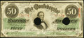 Confederate Notes:1863 Issues, T57 $50 1863 PF-16 Cr. 413 Fine, 2 HOC.. ...