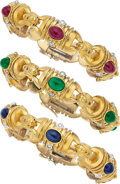 Estate Jewelry:Bracelets, Ruby, Sapphire, Emerald, Diamond Gold Bracelets . ...