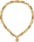Estate Jewelry:Necklaces, Diamond, Gold Necklace, Bvlgari. ...