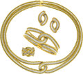 Estate Jewelry:Suites, Gold Jewelry Suite, Buccellati. ... (Total: 5 Items)