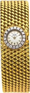 Estate Jewelry:Watches, Solvil Lady's Diamond, Platinum, Gold Bracelet-Watch. ...