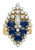 Estate Jewelry:Rings, Sapphire, Diamond, Gold Ring, Peter Lindeman. ...