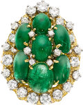 Estate Jewelry:Rings, Emerald, Diamond, Gold Ring, Peter Lindeman. ...