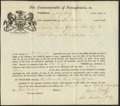 Colonial Notes:Pennsylvania, Commonwealth of Pennsylvania Land Grant Northampton County 400 Acres Sept. 11, 1784.. ...