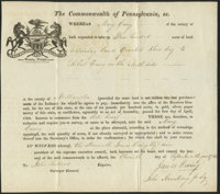 Commonwealth of Pennsylvania Land Grant Northampton County 400 Acres Sept. 11, 1784