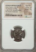 Ancients:Roman Republic, Ancients: Julius Caesar, as Dictator (49-44 BC). AR denarius (21mm, 4.00 gm, 8h). NGC Choice AU 4/5 - 4/5....