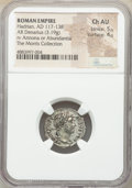 Ancients:Roman Imperial, Hadrian (AD 117-138). AR denarius (19mm, 3.19 gm, 7h). NGC...