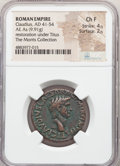 Ancients:Roman Imperial, Claudius (AD 41-54). AE as (27mm, 9.91 gm, 6h). NGC Choice...