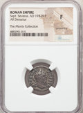 Ancients:Roman Imperial, Ancients: Septimius Severus (AD 193-211). AR denarius (19 mm, 7h), NGC Fine, smoothing....