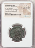 Ancients:Roman Imperial, Vespasian (AD 69-79). AE as (25mm, 9.38 gm, 7h). NGC VF 5/...