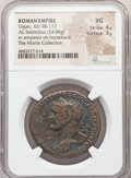 Ancients:Roman Imperial, Trajan (AD 98-117). AE sestertius (33mm, 24.66 gm, 7h). NG...