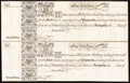 Colonial Notes:Maryland, Uncut Pair Maryland 17(33) 1s Remainders Choice New.. ...