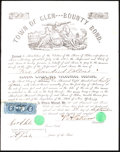 Miscellaneous:Other, Glen, NY- $500 Volunteer Bounty Bond Sep. 3, 1864 Extremely Fine.. ...