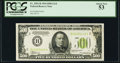 Fr. 2201-B $500 1934 Light Green Seal Federal Reserve Note. PCGS About New 53