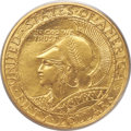 Commemorative Gold, 1915-S $50 Panama-Pacific 50 Dollar Round MS64 PCGS. CAC....