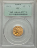 1911 $2 1/2 MS63 PCGS. PCGS Population: (1458/978). NGC Census: (1887/1322). CDN: $450 Whsle. Bid for problem-free NGC/P...
