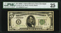 Small Size:Federal Reserve Notes, Fr. 1951-D* $5 1928A Federal Reserve Note. PMG Very Fine 25.. ...