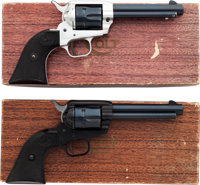 Lot of Two Boxed Colt Frontier Scout Single Action Revolvers