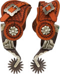 Arms Accessories:Tools, Bill Adamson Card Suit and Longhorn Pattern Steel Spurs.. ...