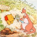 Animation Art:Color Model, Winnie the Pooh and the Honey Tree Pooh Kanga and Roo Color Model Cel and Key Master Background for Published Serigrap...