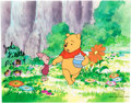 Animation Art:Production Cel, Pooh's Grand Adventure: The Search for Christopher Robin Winnie the Pooh and Piglet Production Cel (Walt Disney, 1997)...
