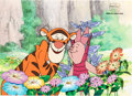 Animation Art:Production Cel, Pooh's Grand Adventure: The Search for Christopher Robin Tigger and Piglet Production Cel (Walt Disney,...