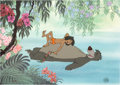 """Animation Art:Limited Edition Cel, """"Bare Necessities"""" The Jungle Book Limited Edition Cel #306/500 (Walt Disney, 1990)...."""