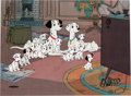 "Animation Art:Limited Edition Cel, ""Watching Television"" 101 Dalmatians Limited Edition Cel #430/500 (Walt Disney, 1991)...."
