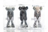 KAWS (b. 1974) Small Lie, set of three, 2017 Painted cast vinyl 11 x 5 x 4-1/2 inches (27.9 x 12.7 x 11.4 cm) (each)...