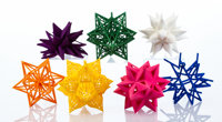 Frank Stella (b. 1936) Ornaments, 2014 Complete set of seven 3-D printing polymer 4 x 4 x 4 inche