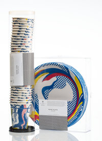 After Roy Lichtenstein Paper Plates and Paper Cups, 1969 Screenprints in colors on paper plates and paper cups 10-3/4...