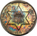 1861 3CS PR64+ PCGS. PCGS Population: (50/33 and 2/4+). NGC Census: (26/26 and 0/0+). PR64. Mintage 1,000....(PCGS# 3710...