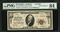 National Bank Notes:Alabama, Birmingham, AL - $10 1929 Ty. 2 The Woodlawn-American National Bank Ch. # 13358 PMG Choice Uncirculated 64.. ...