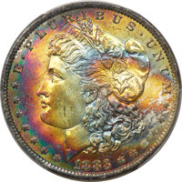1883-O $1 MS63 PCGS. CAC. PCGS Population: (54901/53848 and 112/1208+). NGC Census: (61511/63757 and 23/620+). MS63. Min...