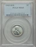 1943-D/D 1C MS65 PCGS. PCGS Population: (51/38). NGC Census: (0/0). CDN: $700 Whsle. Bid for problem-free NGC/PCGS MS65...