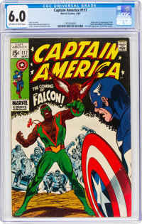 Captain America #117 (Marvel, 1969) CGC FN 6.0 Off-white to white pages